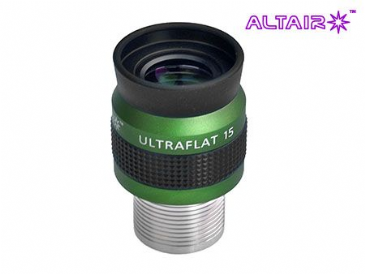 Altair 15mm ULTRAFLAT Eyepiece - parallel barrel stainless steel